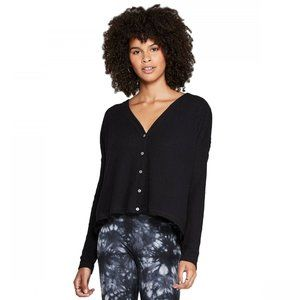 Wild Fable LS V-Neck Button-Front Thermal Top